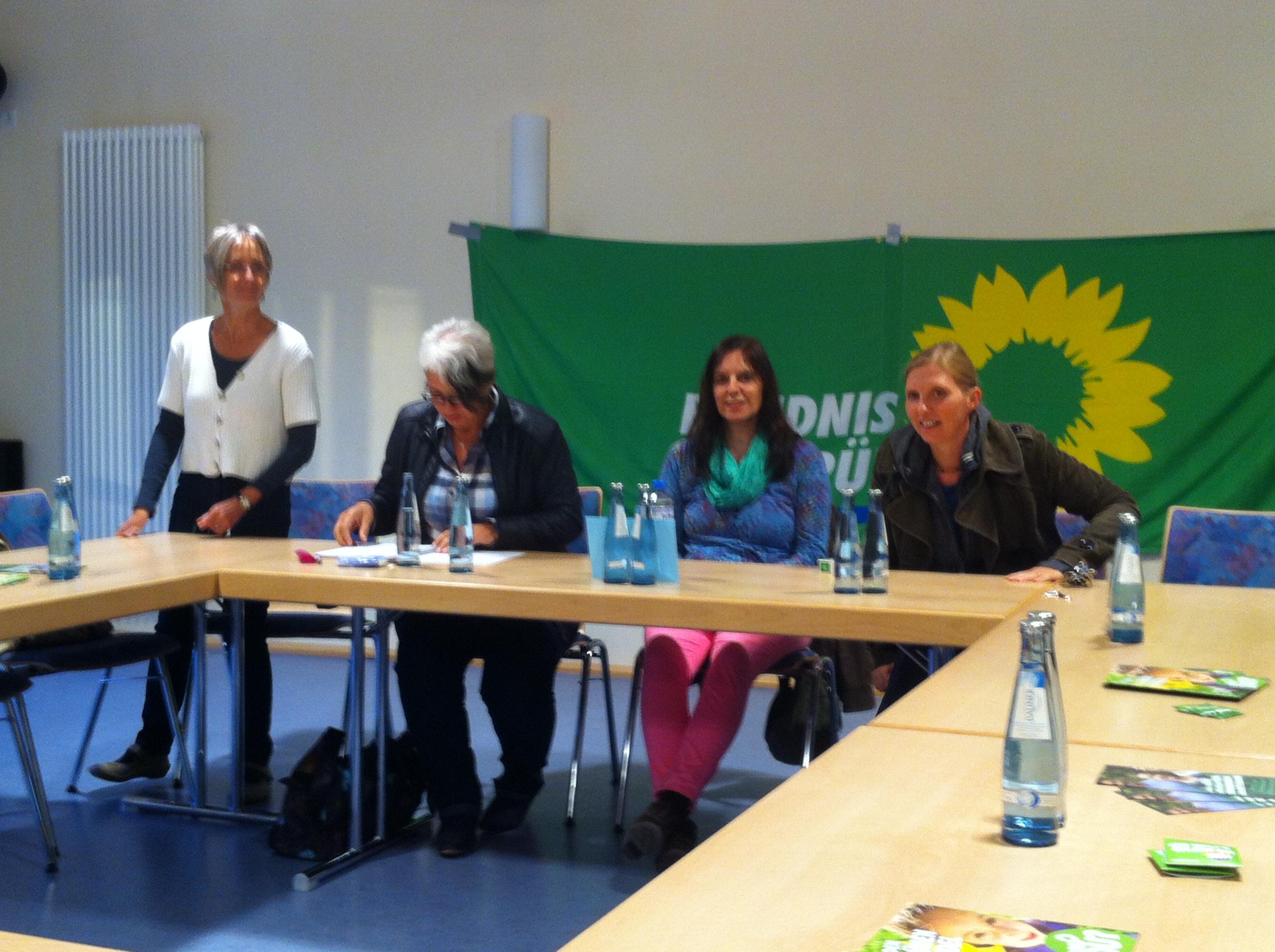 Thersia Utters, Doris Rücker, Leonie Faber, Corinna Rüffer